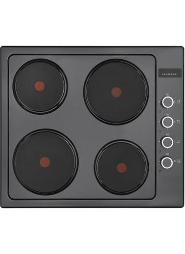Luxell Luxell 4 Prg Mt Siyah Turbo Fanlı Hotpleyt Ocaklı Cam Ankastre Set Siyah